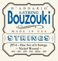 D'AddarioJ97-6 6-String Nickel Wound Greek Bouzouki Strings