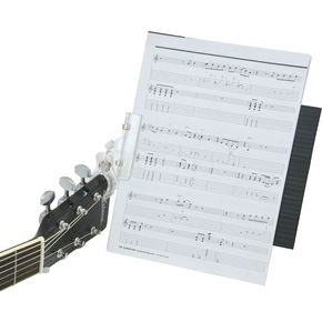 Up-Stage Clip-On Music Stand On Guitar, With Music