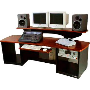 omnirax force 24 studio desk mahogany musician 39 s friend
