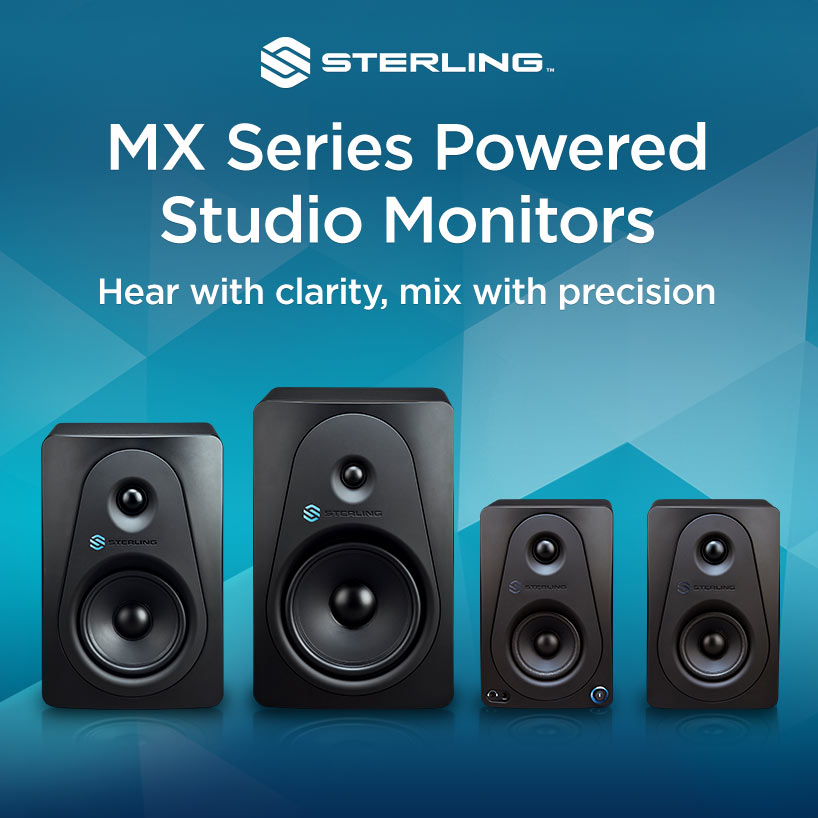 Sterling MX Series Powered Studio Monitors