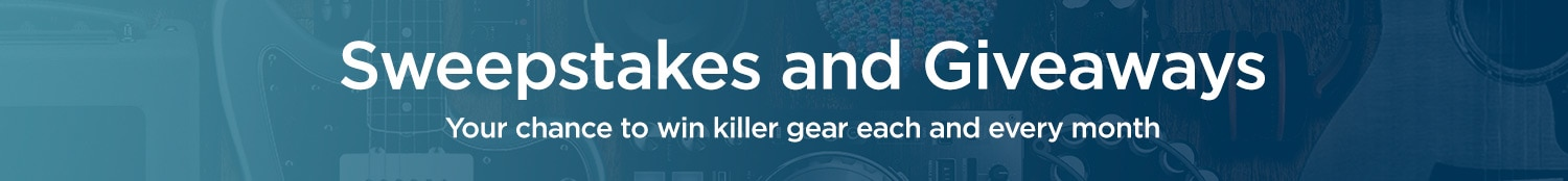 Sweepstakes and give aways your chance to win killer gear each and every month