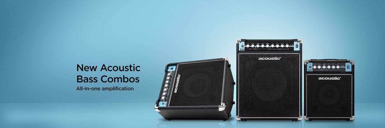 New Acoustic Bass Combos. All-in-one amplification.