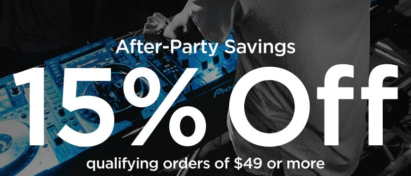 After-Party Savings 15 percent off qualifying orders of 49 Dollars or more