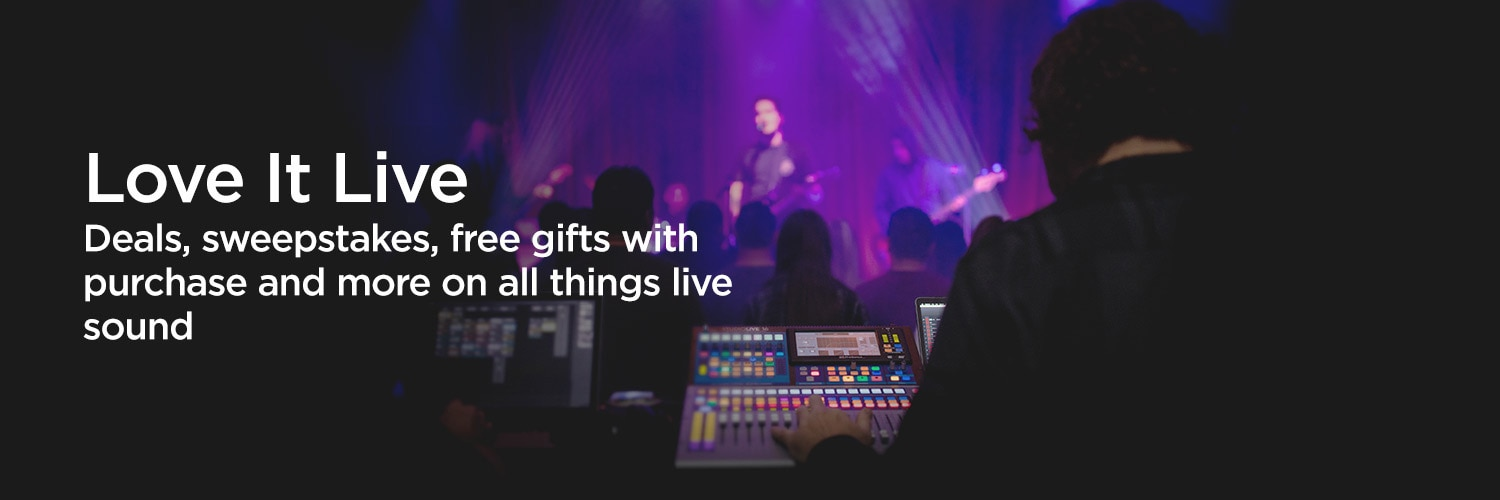 Love it Live. Deals, sweepstakes, free gifts and more on all things live sound.
