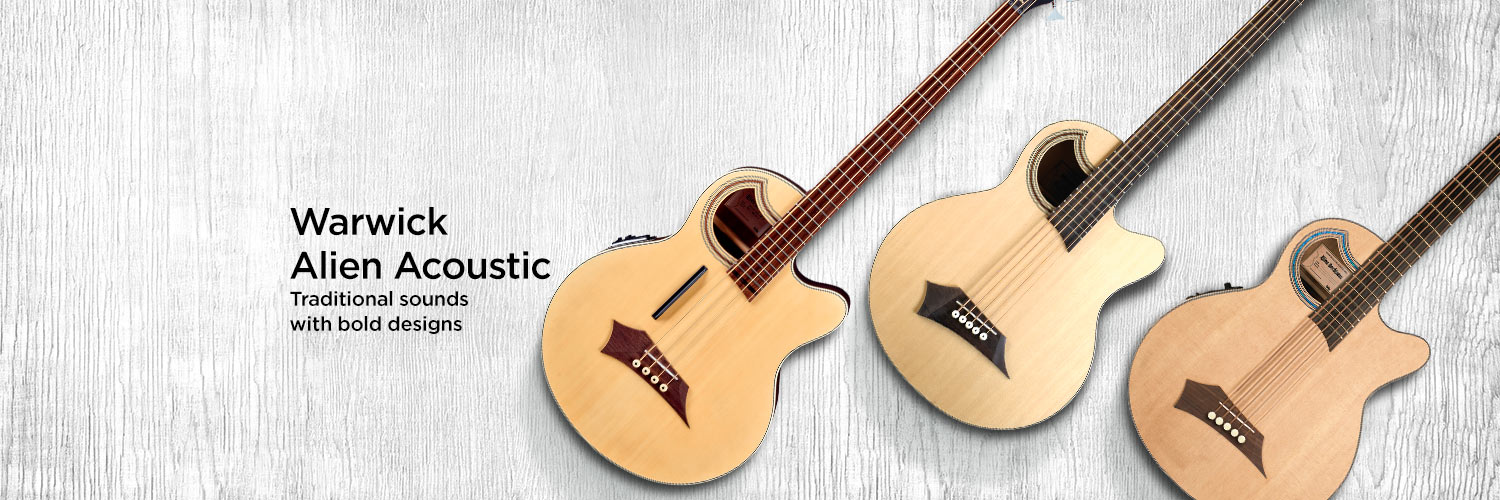 Warwick Alien acoustic. Traditional sounds with bold designs