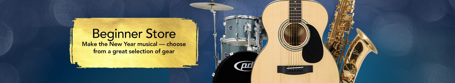 Beginner Store, Make the New Year musical - choose from a great selection of gear.