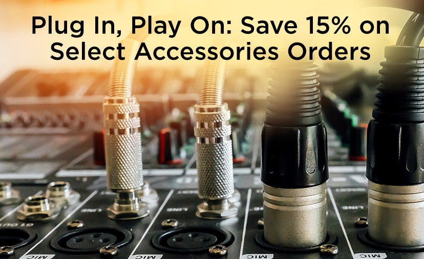 Plug in, play on. Save 15% on select accessories orders of $49 or more. Now thru June 16.