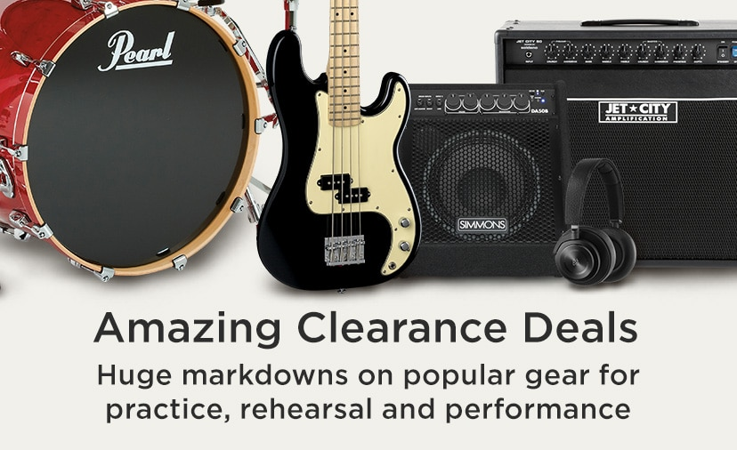Amazing Clearance Deals. Huge markdowns on popular gear for practice, rehearsal and performance