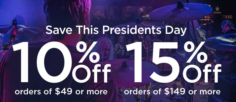 Save This Presidents Day. 10 percent off orders of 49 dollars or more. 15 percent off orders of 149 dollars or more.