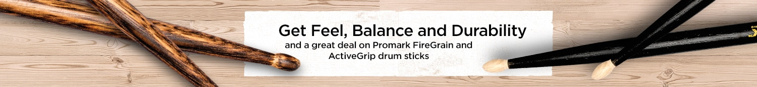 Get Feel, Balance and Durability and a great deal on Promark FineGrain ActiveGrip drum sticks