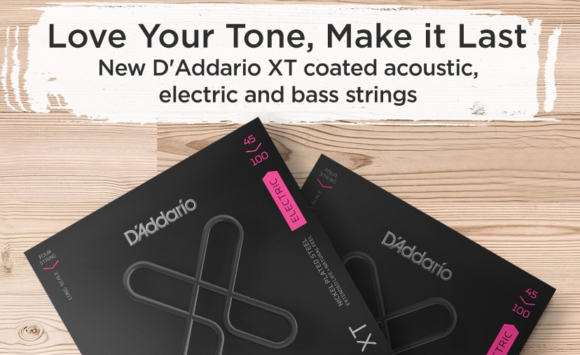Love your tone, Make it Last. New D'Addario XT coated acoustic, electric bass strings