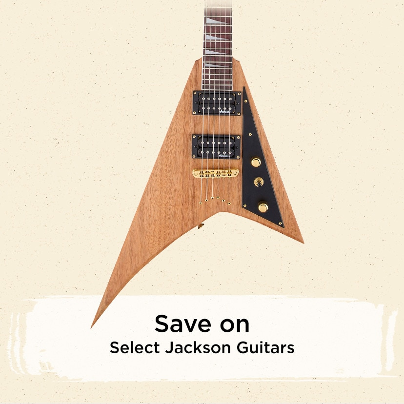 Save on select Jackson Guitars