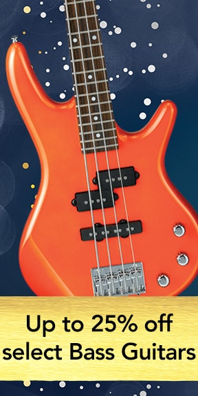 Up to 25 percent off select Bass Guitars
