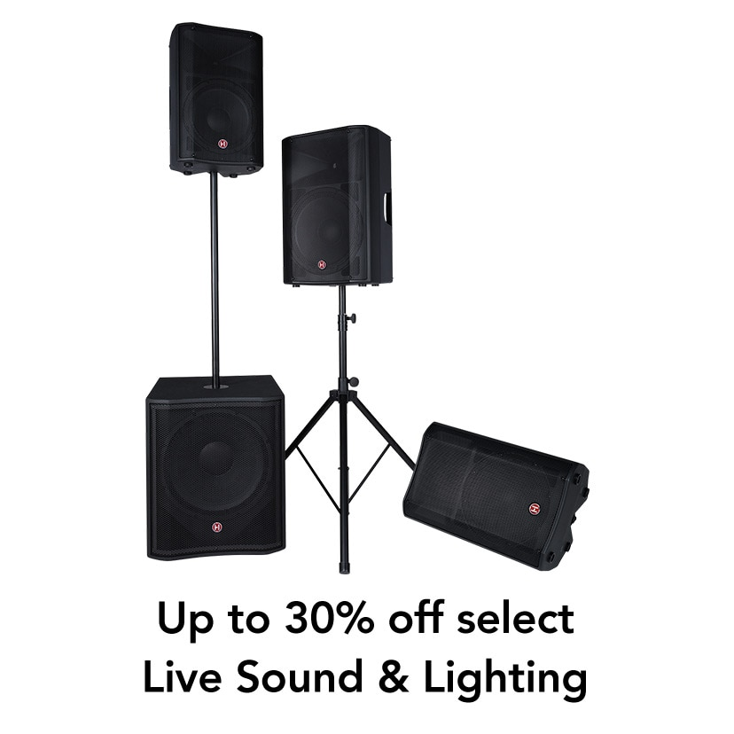 Up to 30% off Live Sound & Lighting