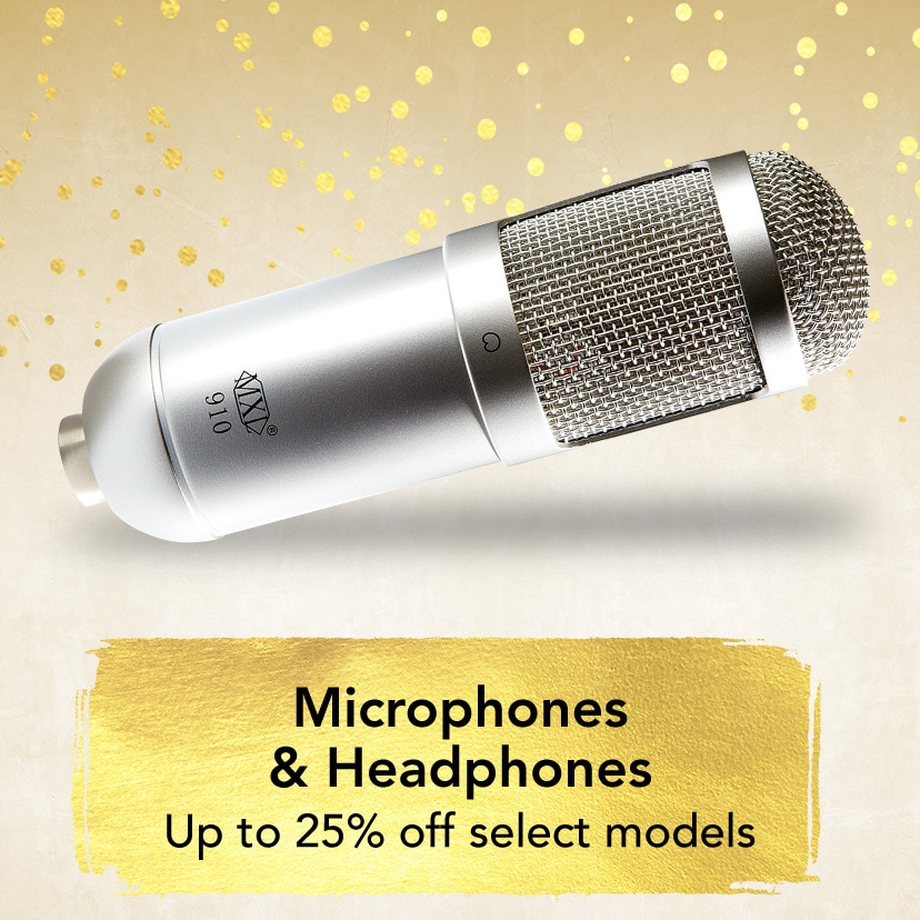 Microphones and Headphones. Up to 25 percent off select models