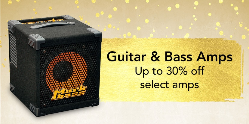 Guitar and bass amps. up to 30 percent off select amps