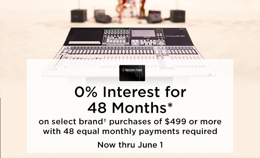 0 percent interest for 48 months. on select brand purchases of 499 Dollars or more with 48 equal monthly payments required. Now thru June 1.