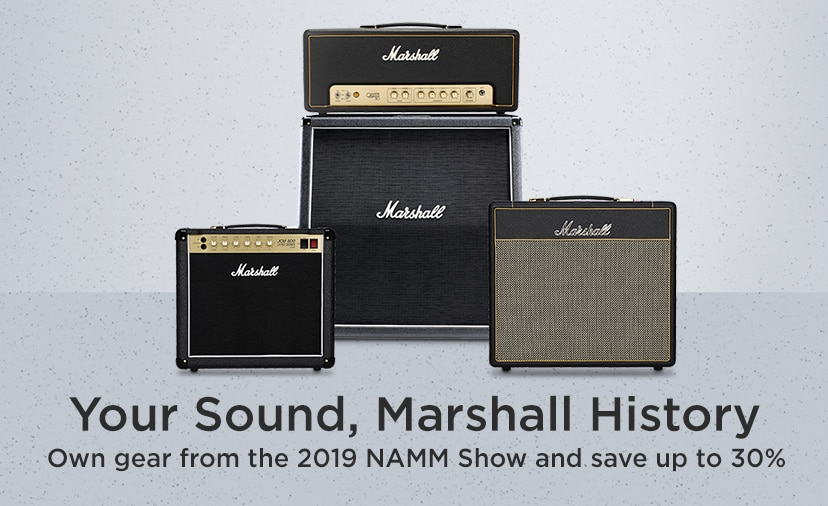 Your Sound, Marshall History. Own gear from the 2019 NAMM show and save up to 30 percent.