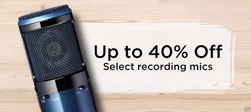 Up to 40% off select recording mics