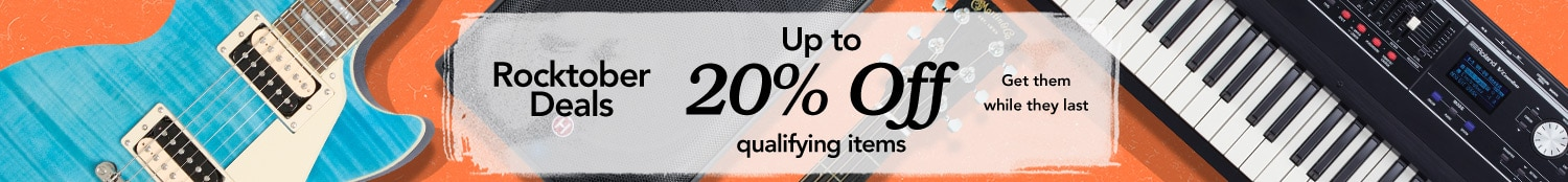 Rocktober deals, up to 20% off qualifying items. Get them while they last.
