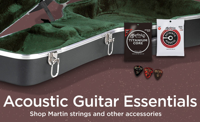Acoustic Guitar Essentials - shop Martin strings and other accessories