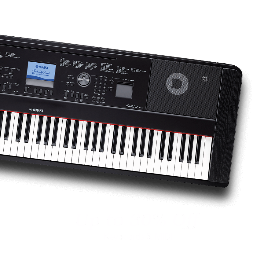 Up to 30 percent off keyboards and MIDI.