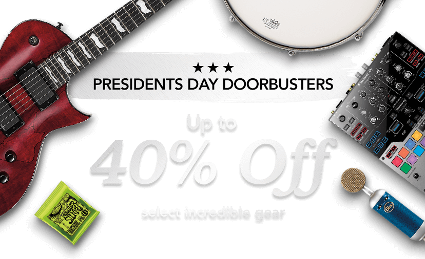 President's day doorbuster. Up to 40 percent off select incredible gear.