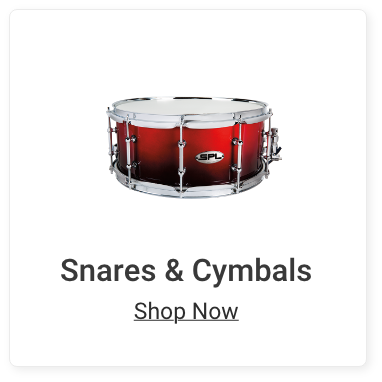 Snares and Cymbals. Shop Now.