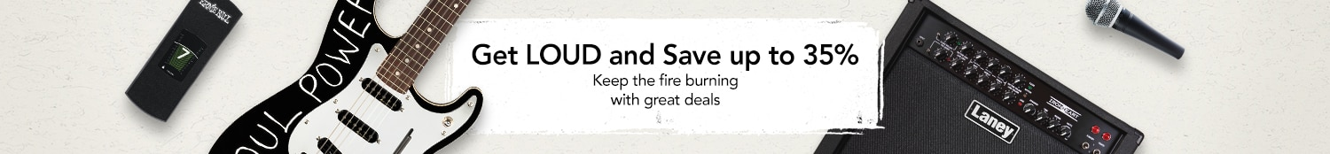 Get loud and save up to 35 percent - Keep the fire burning with great deals