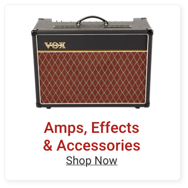 Amps, Effects and Accessories. Shop Now.