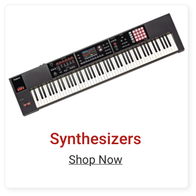 Synthesizers. Shop Now.