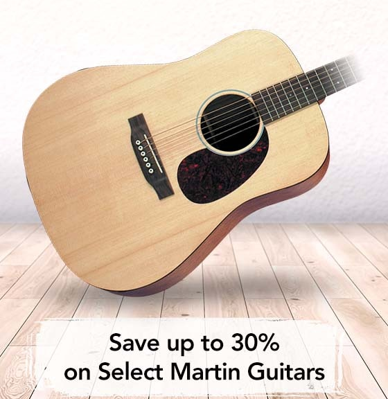 Save up to 30 percent on select Martin Guitars