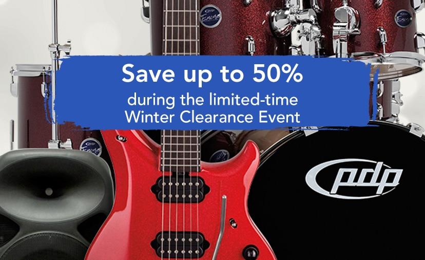 Save up to 50 percent during the limited-time winter clearance event