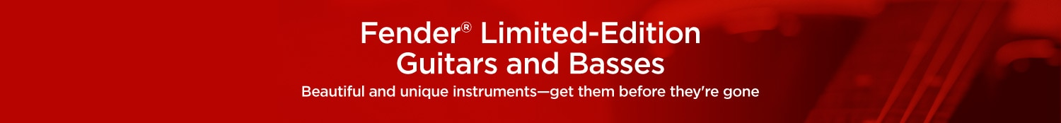 Fender Limited-Edition Guitars and Basses