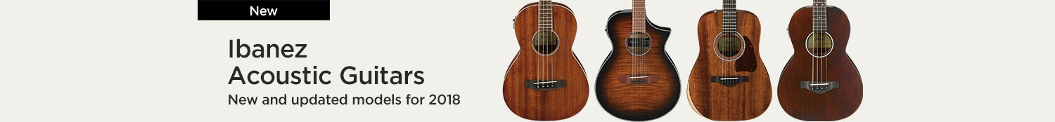 Ibanez Acoustic Guitars new and updated models for 2018