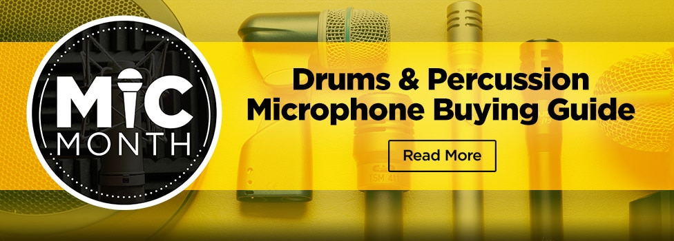 View Drums & Percussion Microphone Buying Guide