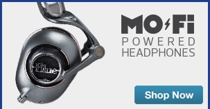 Blue Powered Headphones MoFi