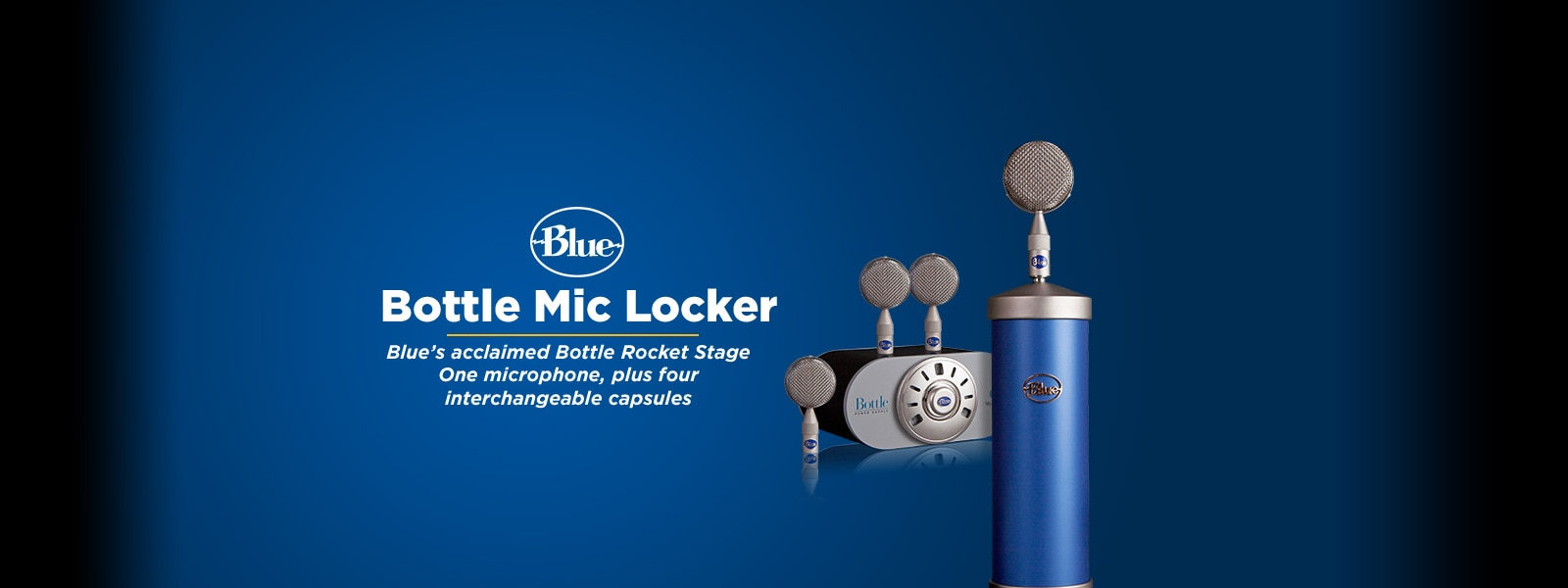 BLUE�Bottle Mic Locker