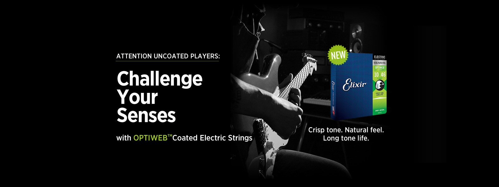 Optiweb coated electric strings