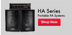 HA Series Portable PA Systems