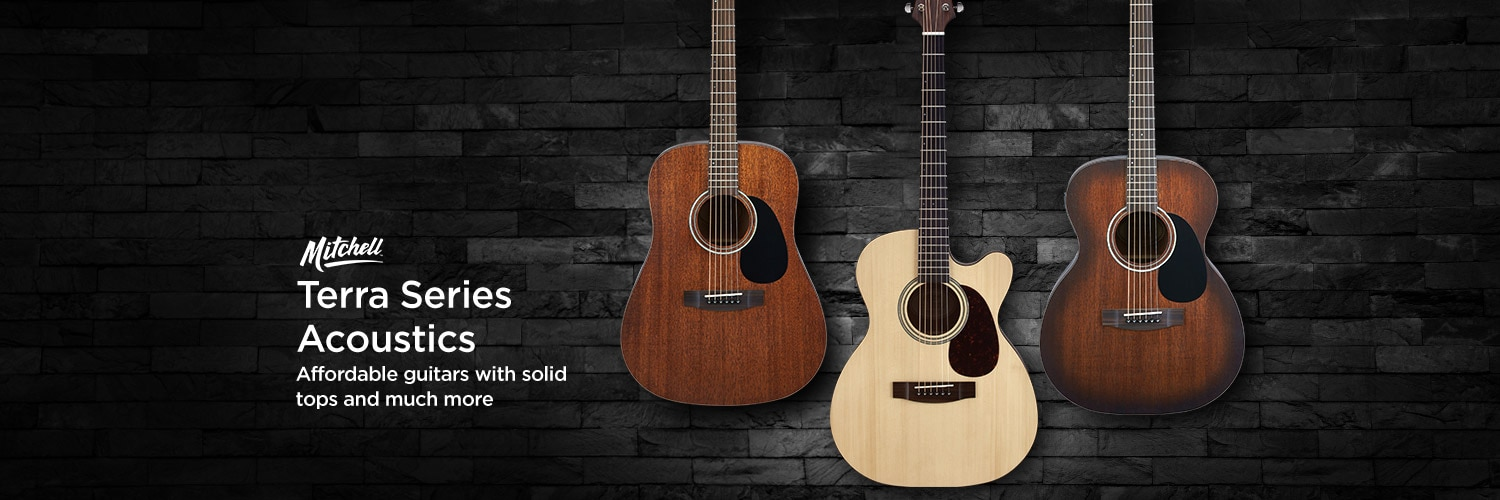 Mitchell Terra series acoustics. Affordable guitars with solid tops and much more