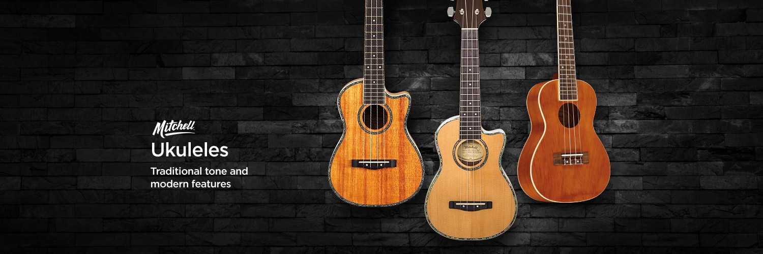 Mitchell Ukuleles. Traditional tone and modern features