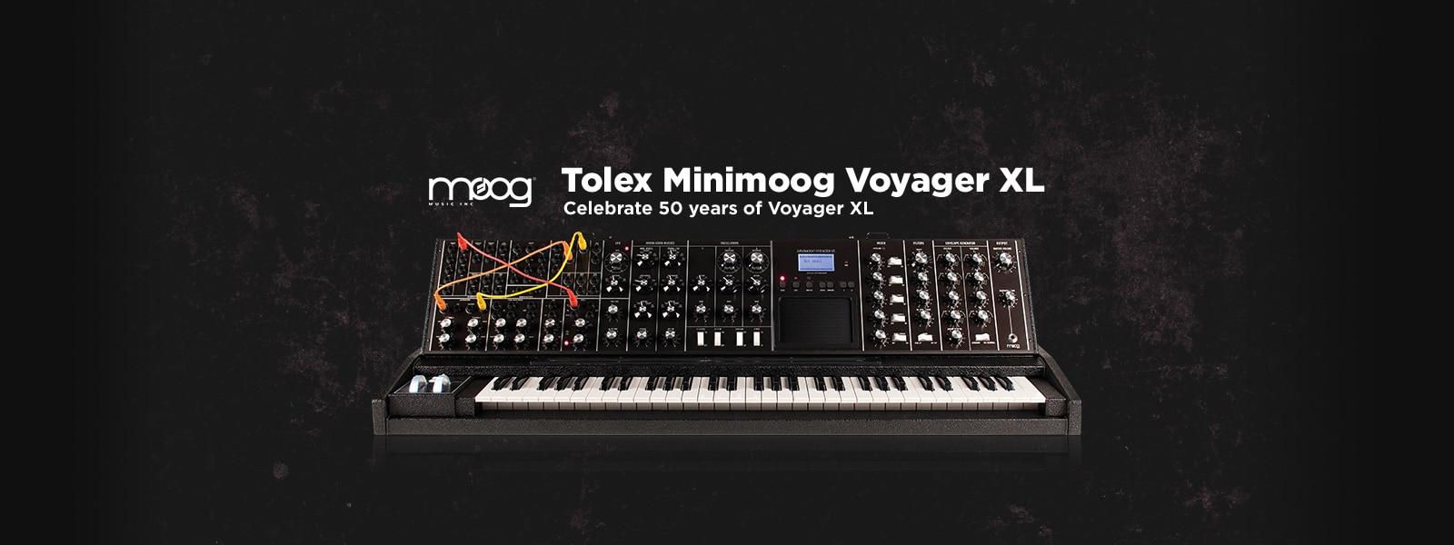 Moog MIDI Keyboard Minimoog Tolex Minimoog Voyager XL