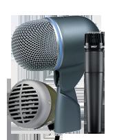 Shure instrument mics