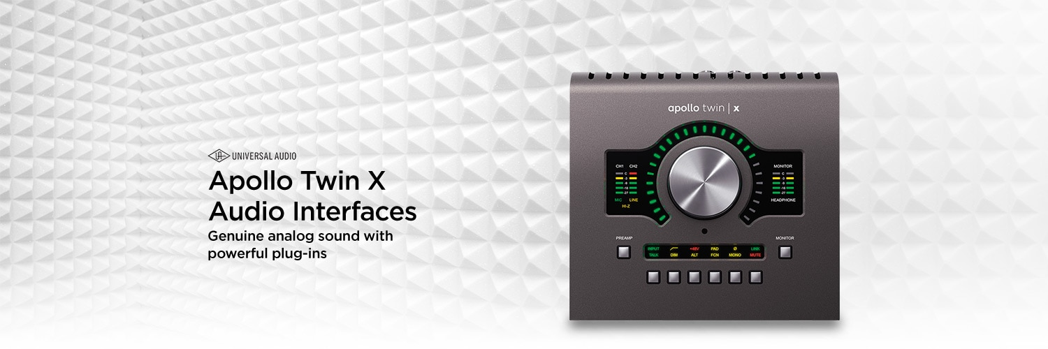Universal Audio Apollo Twin X Audio Interfaces. Genuine analog sound with powerful plug-ins.