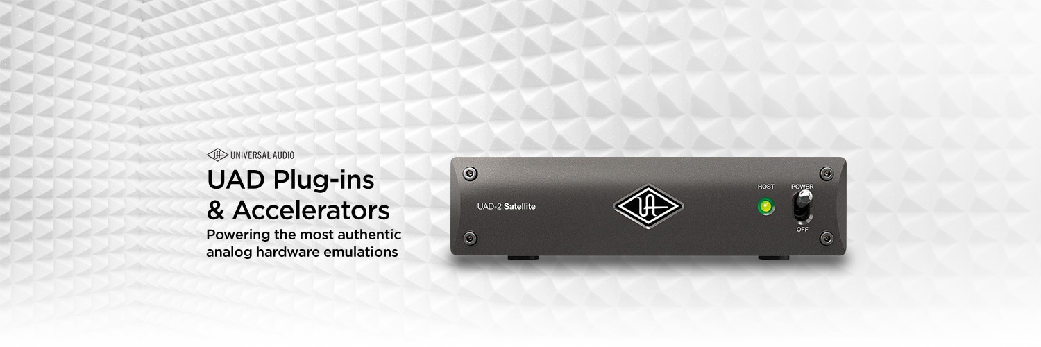 Universal Audio UAD Plug-ins and Accelerators. Powering the most authentic analog hardware emulations.
