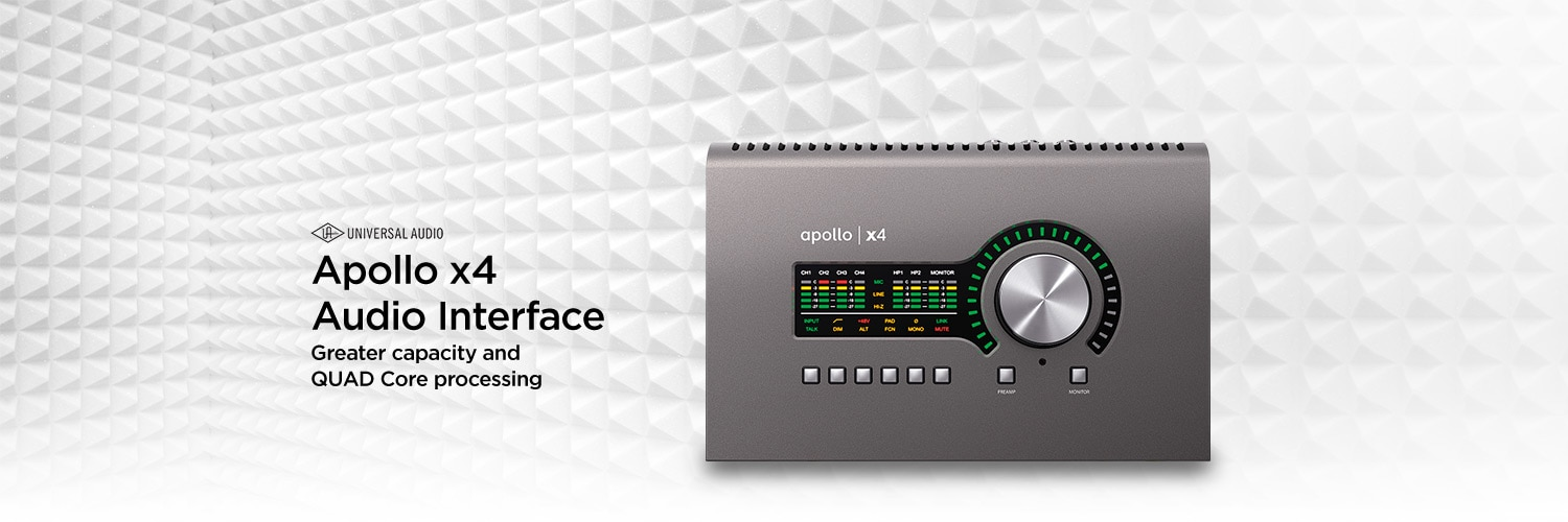 Universal Audio Apollo x4 Audio Interface. Greater capacity and QUAD Core processing.
