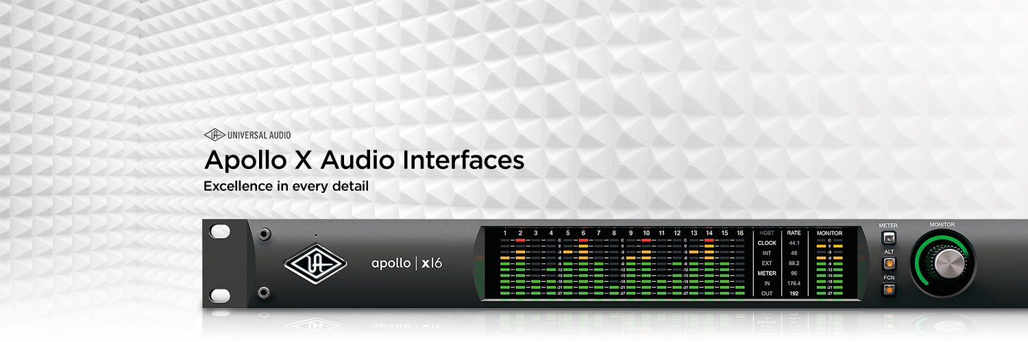 Universal Audio Apollo X audio interfaces. Excellence in every detail