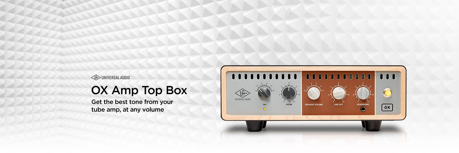 Universal Audio OX Amp Top Box. Get the best tone from your tube amp, at any volume.