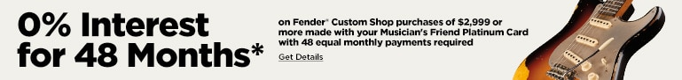 0% 48 Months Fender Custom Financing